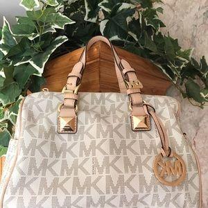 Michael Kors Grayson monogram signature satchel